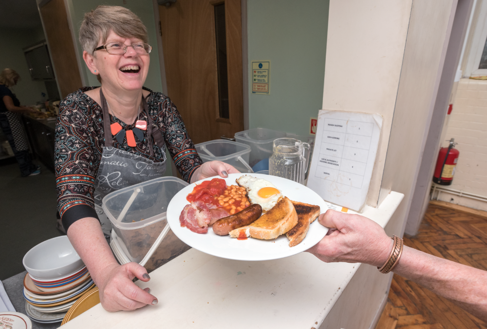 Housebuilder provides breakfasts for homeless people in Swindon