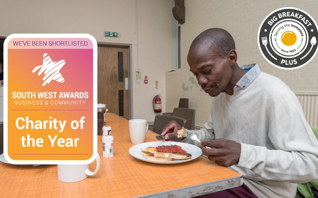 Big Breakfast Plus shortlisted for Charity of the Year in the South West Business & Community Awards