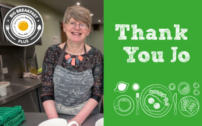 Big Breakfast Plus says goodbye to Project Coordinator Jo